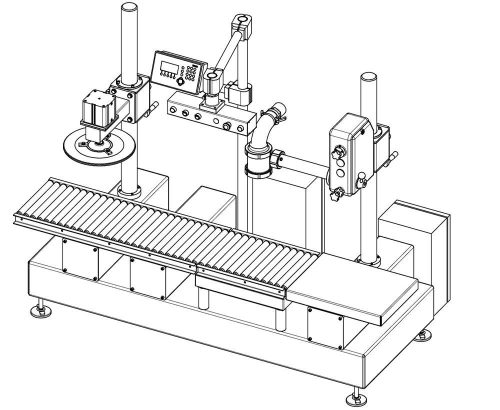 macchina dosatricie semiautomatica ponderale disegno tecnico