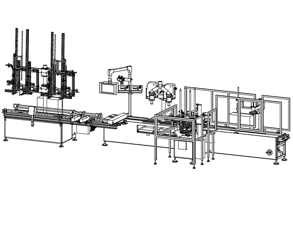 macchina dosatricie automatica ponderale disegno tecnico