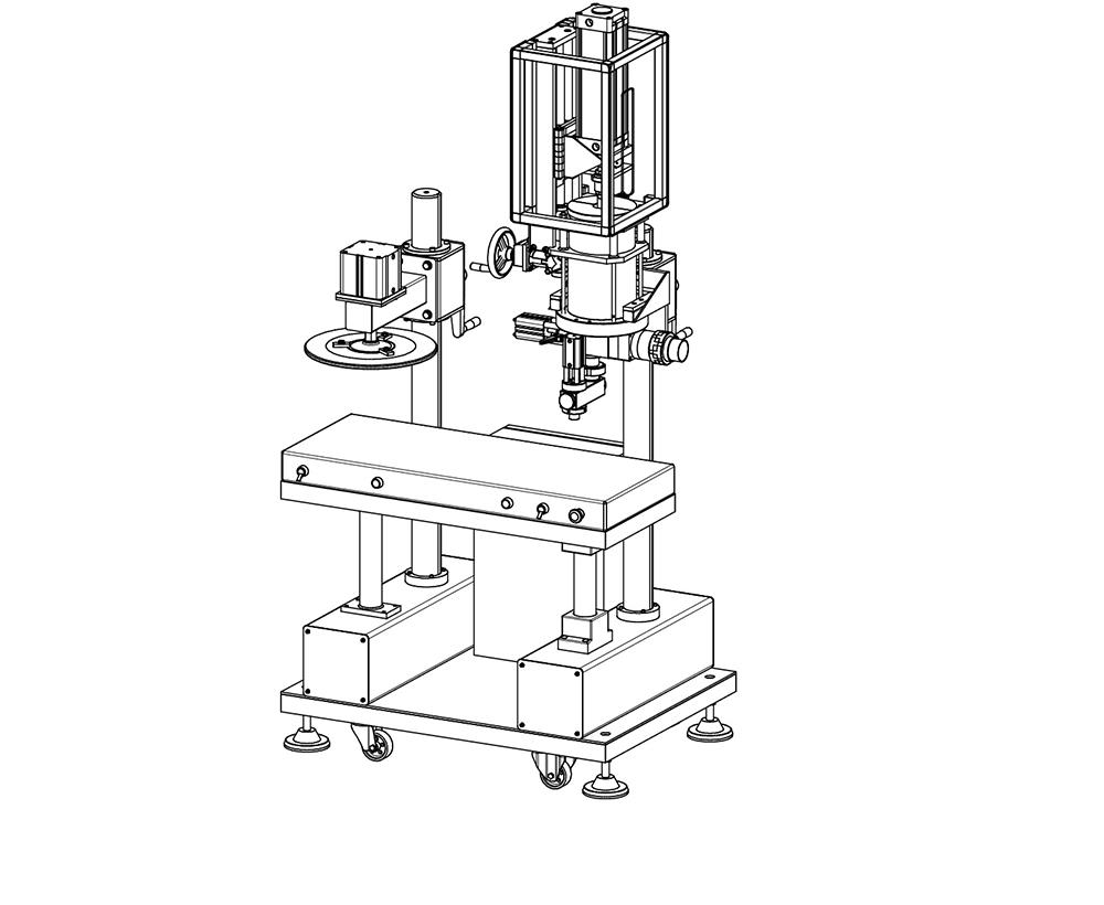 macchina dosatricie samiautomatica volumetrica disegno tecnico